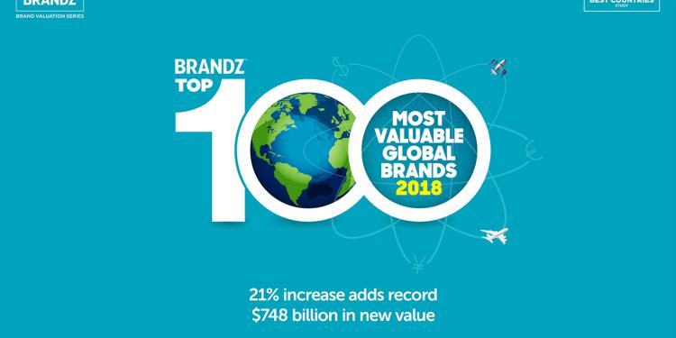 Công bố Top 100 thương hiệu giá trị nhất toàn cầu 2018 của BrandZ 1