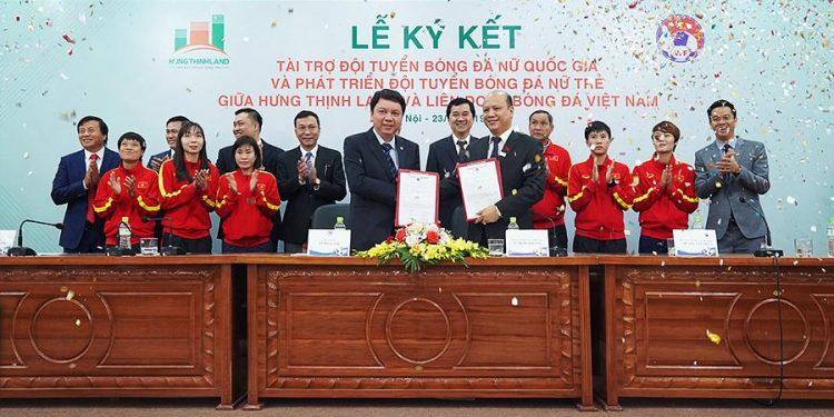 Đội tuyển bóng đá nữ Quốc gia, Tập đoàn Hưng Thịnh, Hưng Thịnh Land, Bóng đá nữ, Hưng Thịnh Land tài trợ 100 tỷ đồng