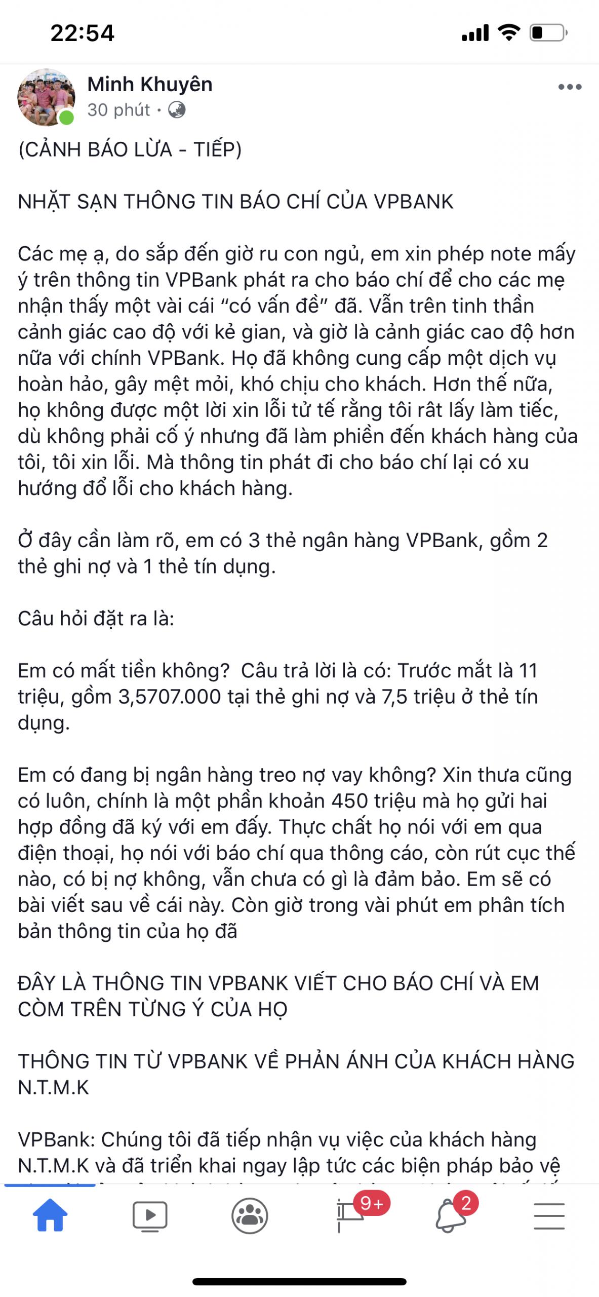 Cảnh báo lừa - Tiếp: Nhặt sạn thông tin báo chí của VPBank 13