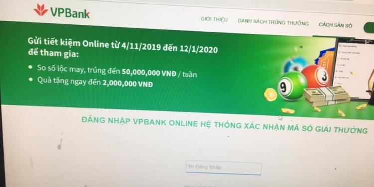 Giả trang web ngân hàng VP Bank, lừa tiền khách hàng tinh vi 1