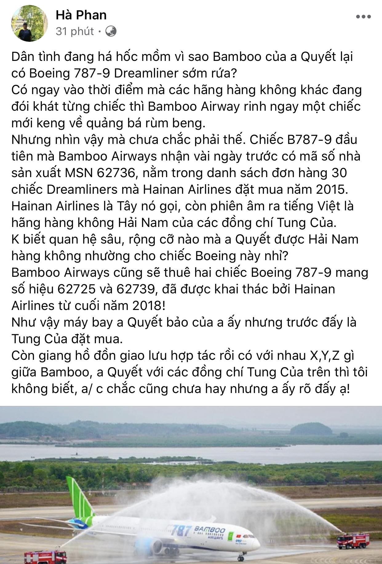 Bamboo Airways có liên quan gì đến Hainan Airlines? 8
