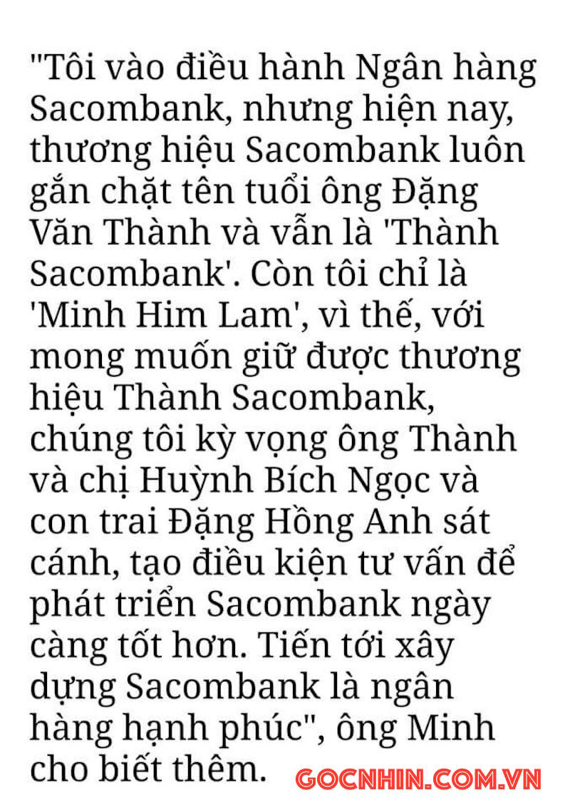 Góc nhìn Thương hiệu: Dương Công Minh là của Him Lam còn Đặng Văn Thành vẫn là của Sacombank 8