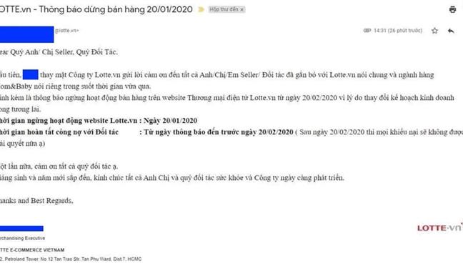 Thương mại điện tử, Lotte.vn ngừng hoạt động, Lotte Mart, Mua bán online,Mua sắm trực tuyến