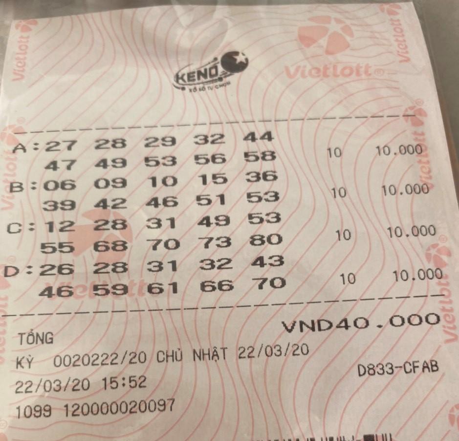 Lần đầu có người chơi trúng Keno trị giá 2 tỷ đồng 1