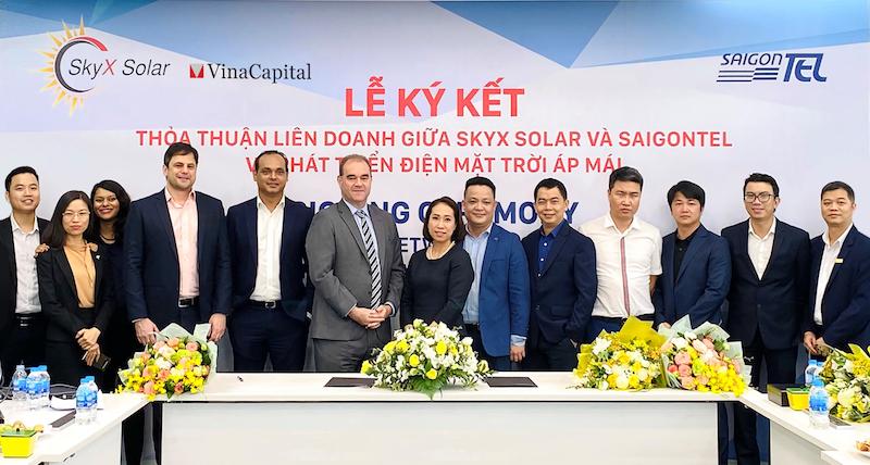 """SkyX Solar và Saigontel """"bắt tay"""" xây dựng và vận hành chuỗi dự án điện mặt trời áp mái 5"""