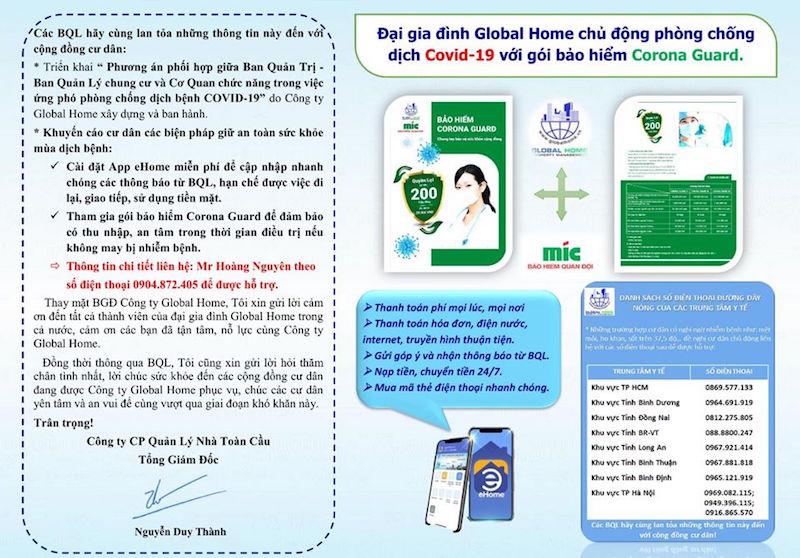 """Global Home tặng """"bảo hiểm Covid -19"""" cho cán bộ công nhân viên 4"""