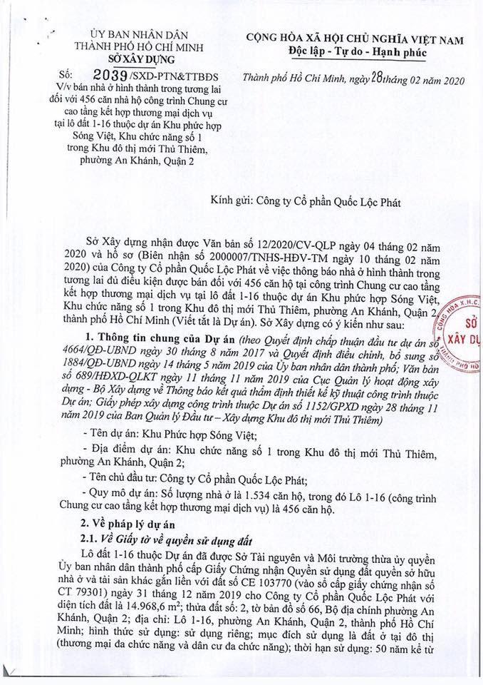 The Metropole Thủ Thiêm chính thức đủ điều kiện ký Hợp đồng mua bán 456 căn hộ 16