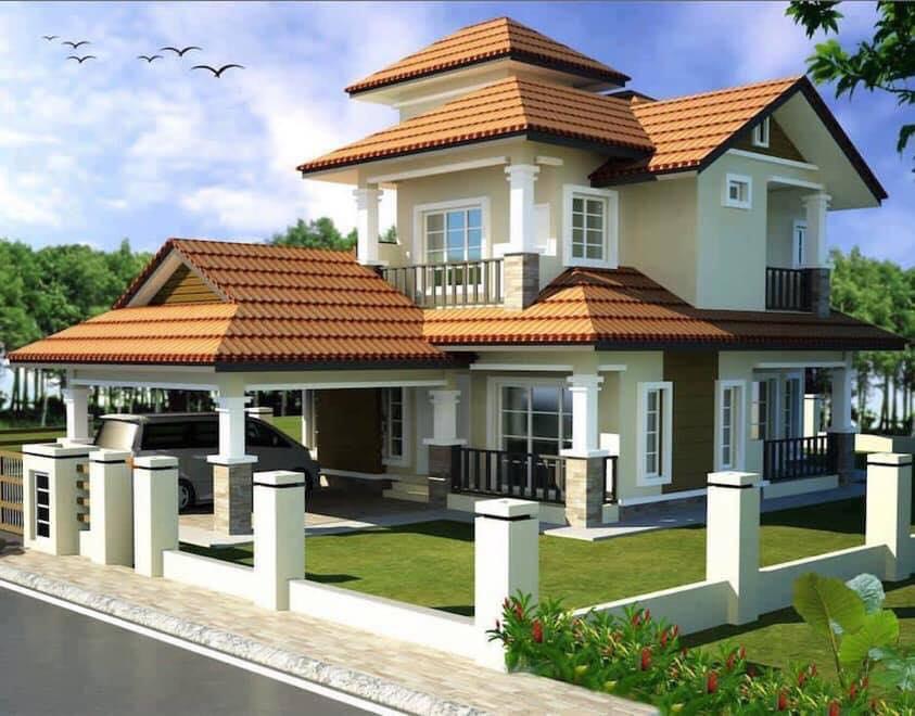 Những mẫu nhà đẹp, độc đáo, không cần cao, chỉ cần 2 tầng thế này là đủ ! 44