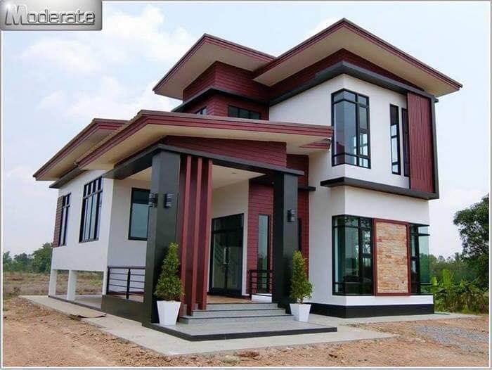 Những mẫu nhà đẹp, độc đáo, không cần cao, chỉ cần 2 tầng thế này là đủ ! 36