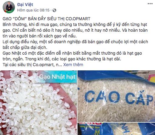 """Nghi ngờ gạo thường """"đội lốt"""" gạo Nhật cao cấp bán đầy siêu thị Co.op Mart 4"""