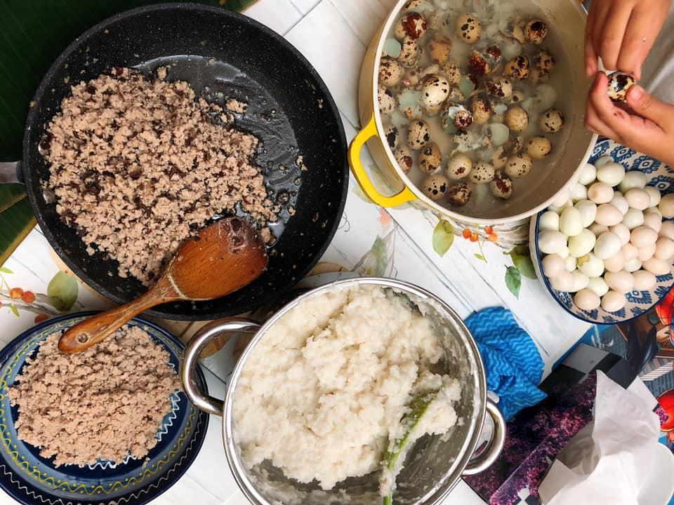 """Vào bếp cùng """"nữ hoàng truyền thông"""" Nguyễn Phạm Khánh Vân: Bánh giò, bánh bao, bánh dày nóng hổi đê 4"""