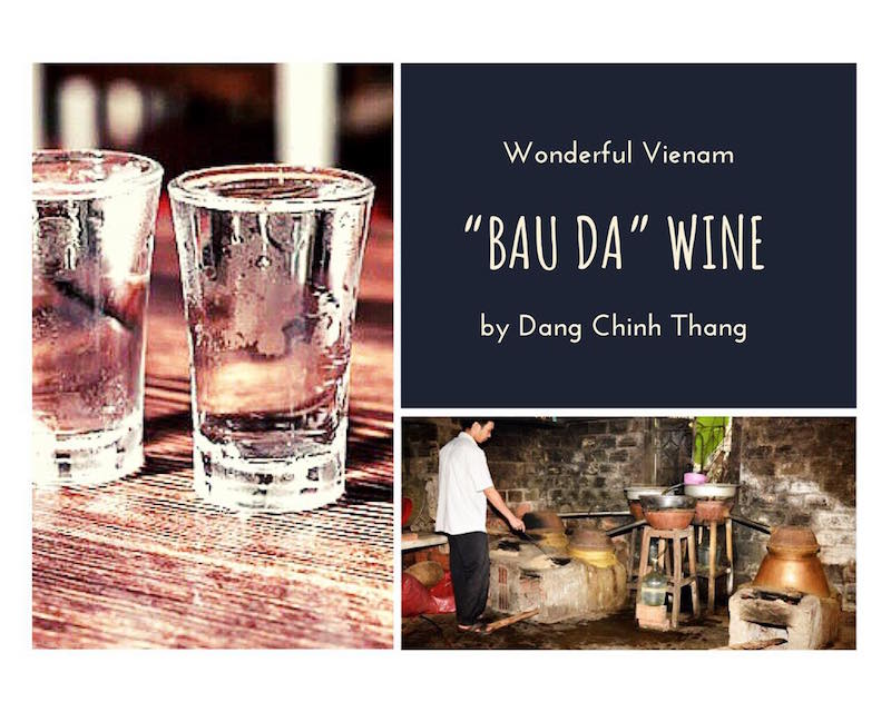 """""""Bàu Đá"""" là tên của một bàu nước ngày xưa cả làng dùng chung, là nguồn nước để chưng cất rượu Bàu Đá."""