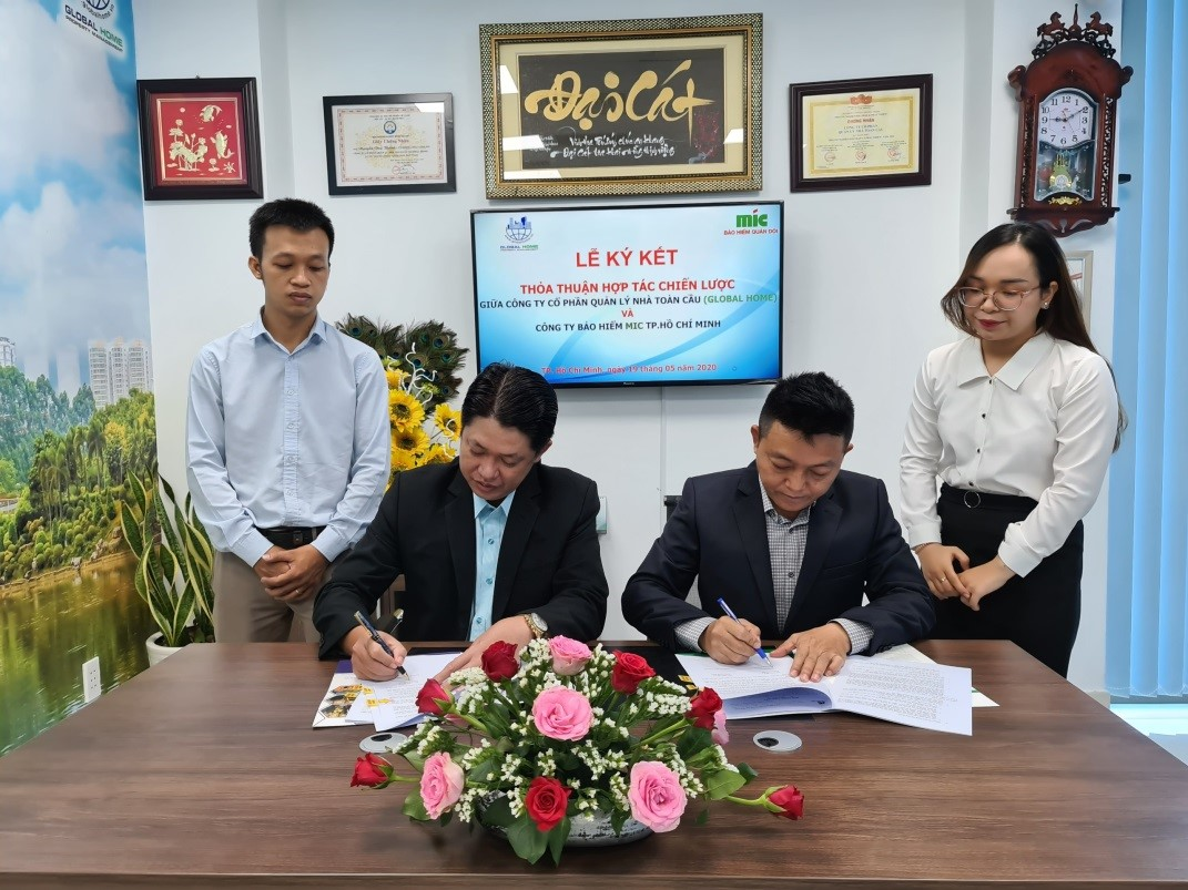 Global Home ký kết thỏa thuận hợp tác chiến lược phân phối bảo hiểm cho cư dân sống tại chung cư 6