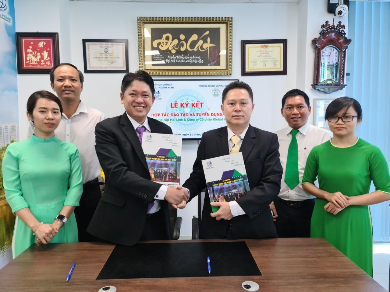 Hợp tác chiến lược giữa Trường Trung cấp Mai Linh với Công ty Quản lý Global Home 1