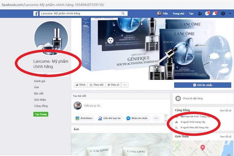 """Lancôme tố hàng loạt Fanpage và website giả mạo bán hàng """"đểu"""" 5"""