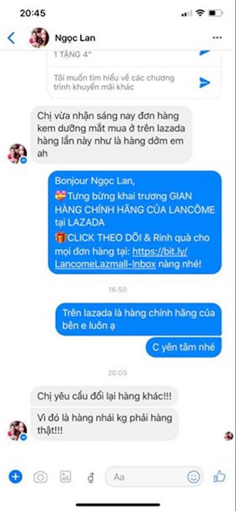 """Lancôme tố hàng loạt Fanpage và website giả mạo bán hàng """"đểu"""" 11"""