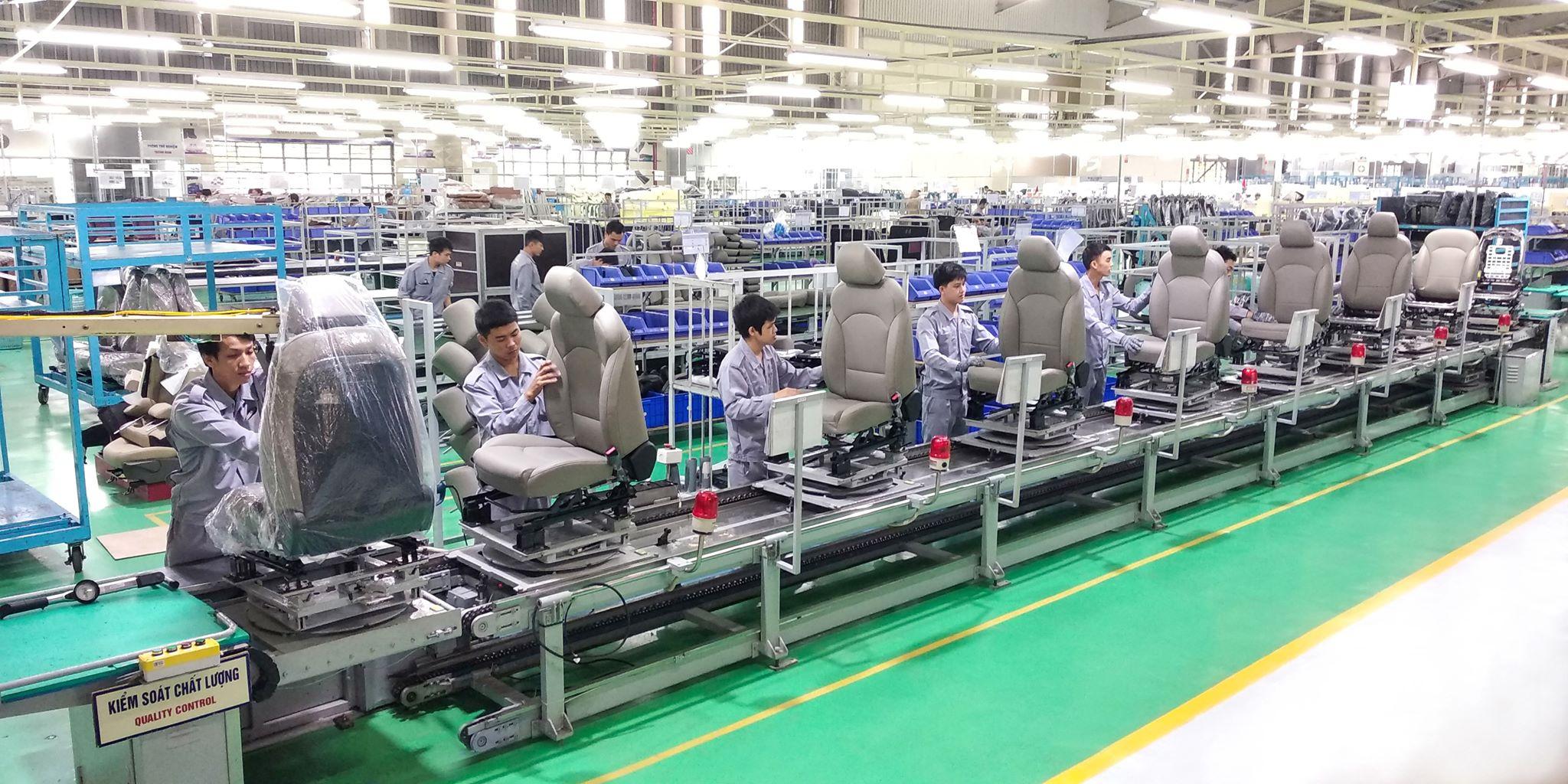 Thaco gia tăng xuất khẩu linh kiện ghế ô tô 2