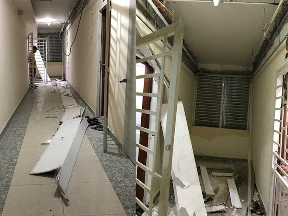 Mùa mưa, dân ở chung cư ngán ngẫm nước vào tới tận cửa nhà...! 5