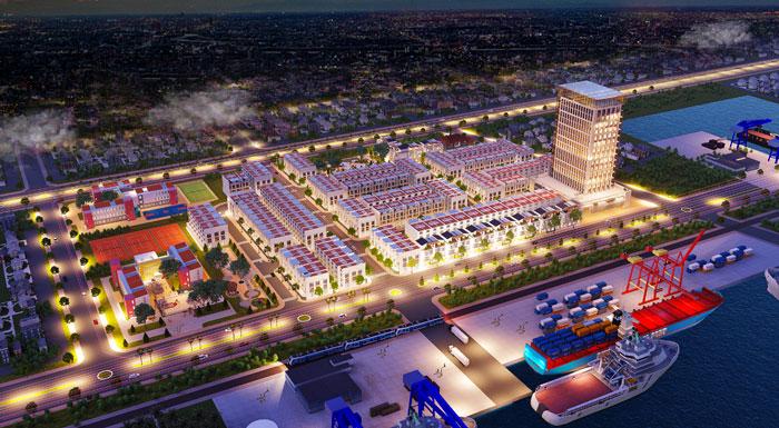 Phối cảnh tổng thể dự án Phú Mỹ Central Port