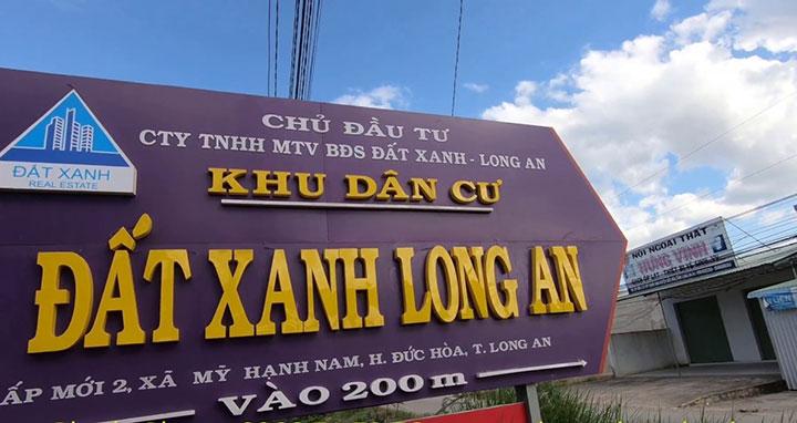 Công ty TNHH MTV Bất động sản Đất Xanh Long An đã mượn tên thương hiệu của Tập đoàn Đất Xanh gây nhầm lẫn cho khách hàng. Ảnh: Tập đoàn Đất Xanh