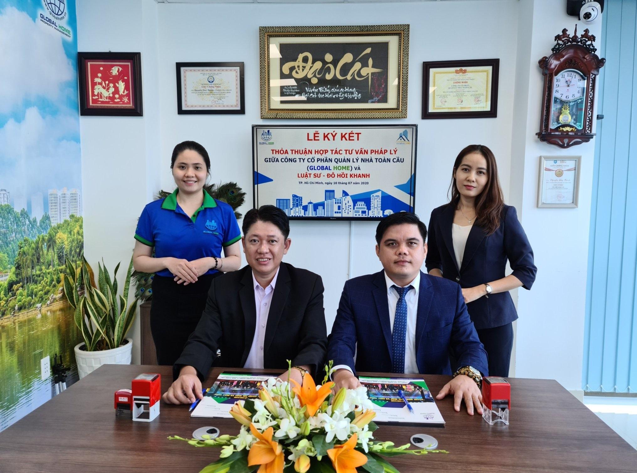 Công ty Quản Lý Global Home ký kết thỏa thuận hợp tác tư vấn pháp lý với Luật sư Đỗ Hồi Khanh 1