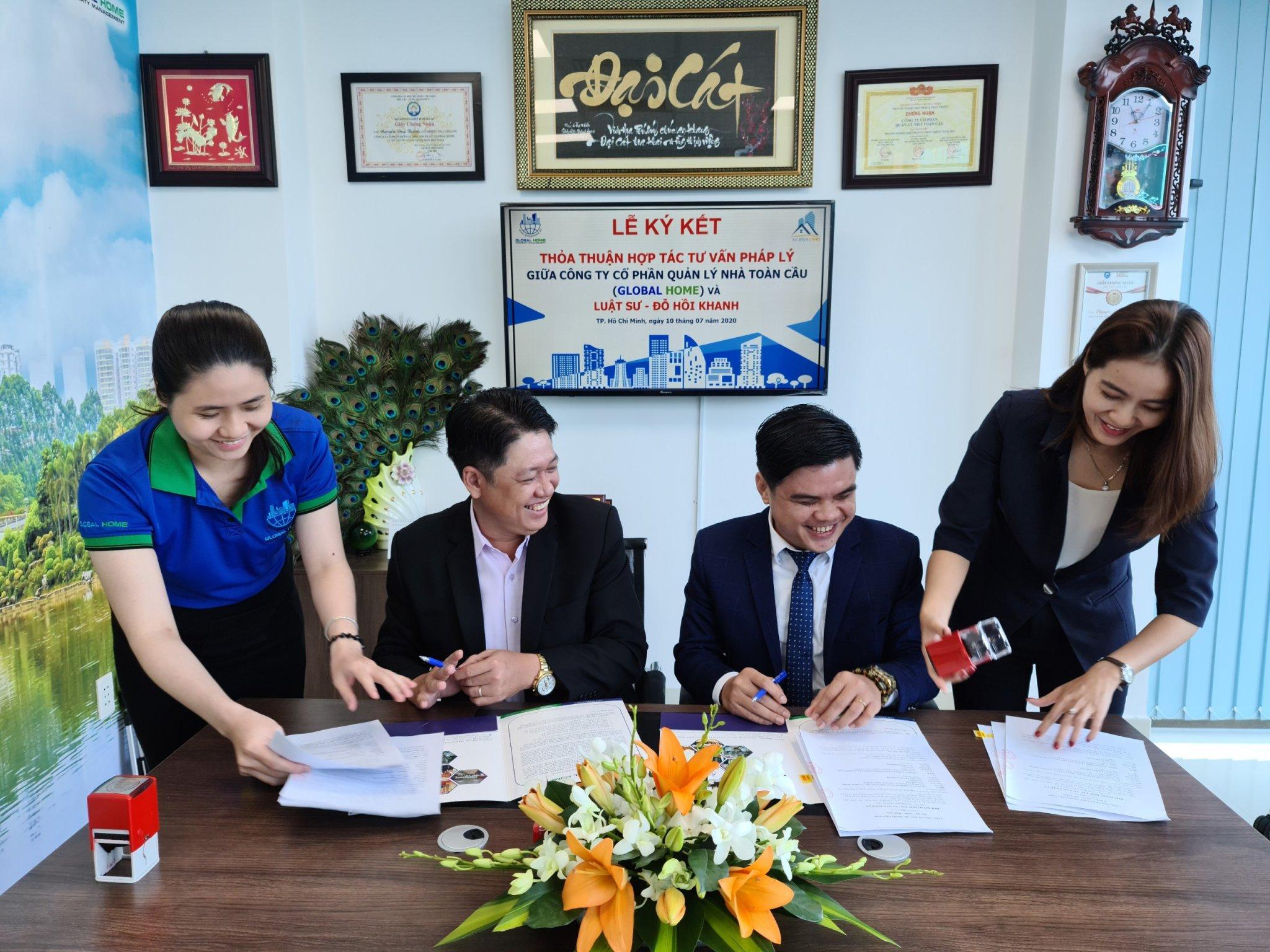 Công ty Quản Lý Global Home ký kết thỏa thuận hợp tác tư vấn pháp lý với Luật sư Đỗ Hồi Khanh 3
