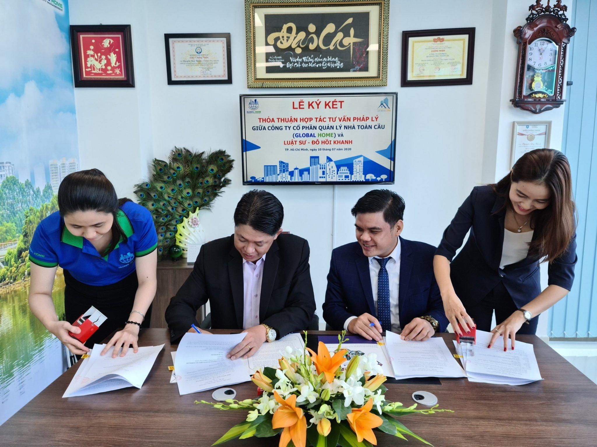 Công ty Quản Lý Global Home ký kết thỏa thuận hợp tác tư vấn pháp lý với Luật sư Đỗ Hồi Khanh 4