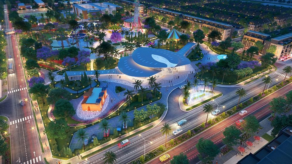 Công viên trung tâm Gem Sky Park - tổ hợp tiện ích nổi bật hàng đầu của Gem Sky World được chủ đầu tư cam kết xây dựng hoàn thiện.