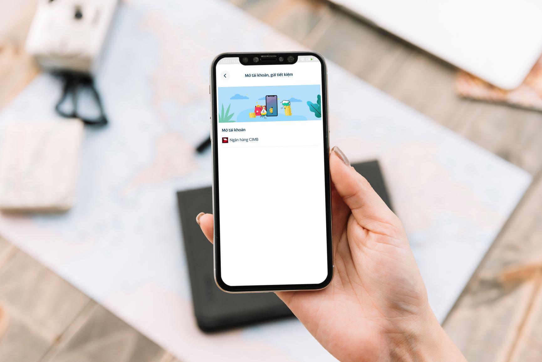 Giờ đây, khách hàng có thể dễ dàng đăng ký mở tài khoản ngân hàng CIMB Việt Nam thông qua Ví điện tử SmartPay