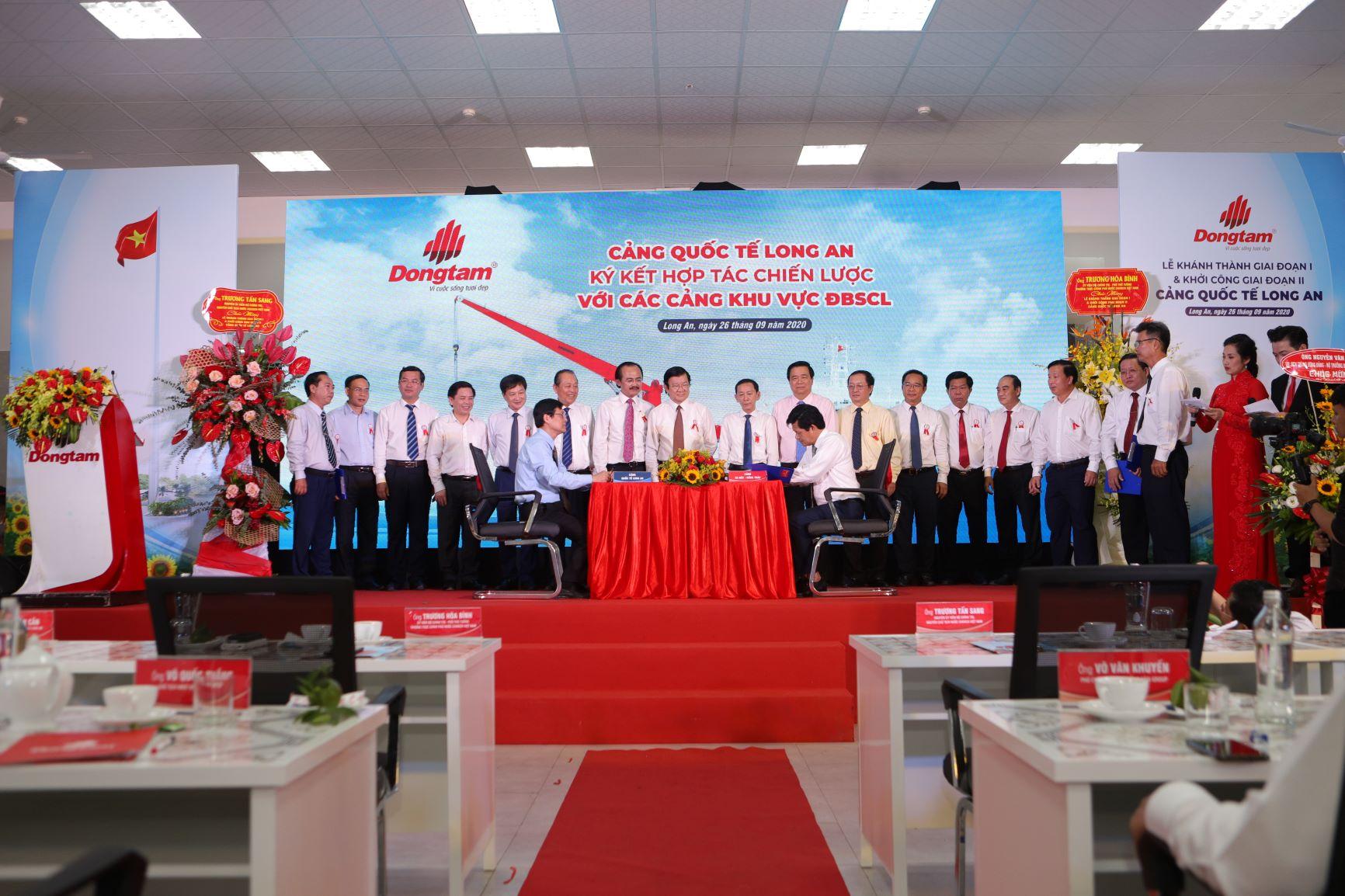 Đồng Tâm Group khánh thành giai đoạn 1 và khởi công giai đoạn 2 - Cảng Quốc tế Long An 6