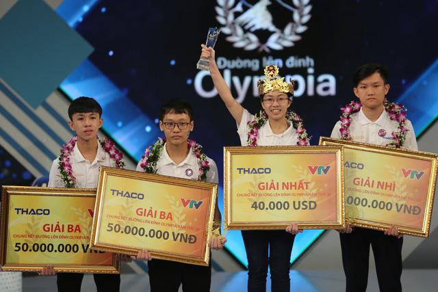 Sau 9 năm, cuộc thi trí tuệ Đường lên đỉnh Oympia lại có một nhà vô địch nữ. Ảnh: VTV.vn