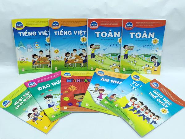 Bộ SGK lớp 1 mới của NXB Giáo dục Việt Nam. Ảnh: GDVN