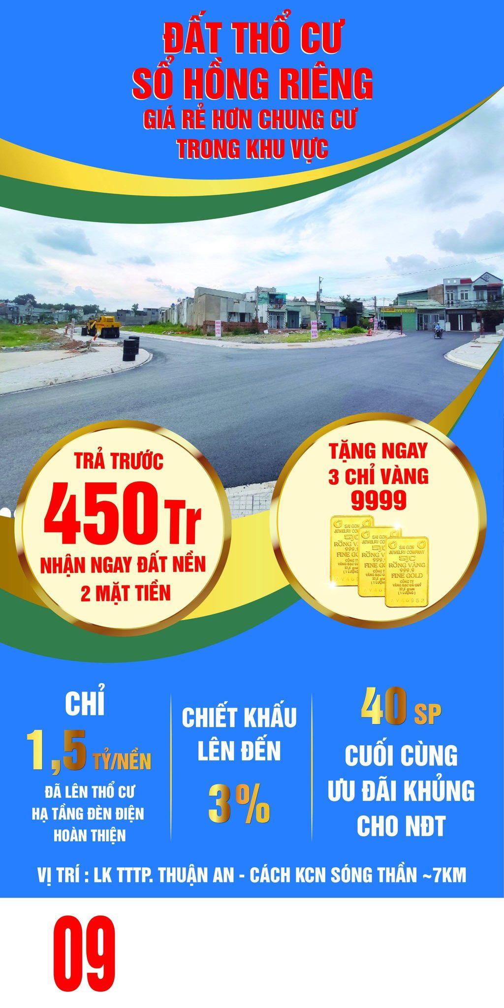 Cơn sốt đất thổ cư Thuận An đón sóng FDI 4