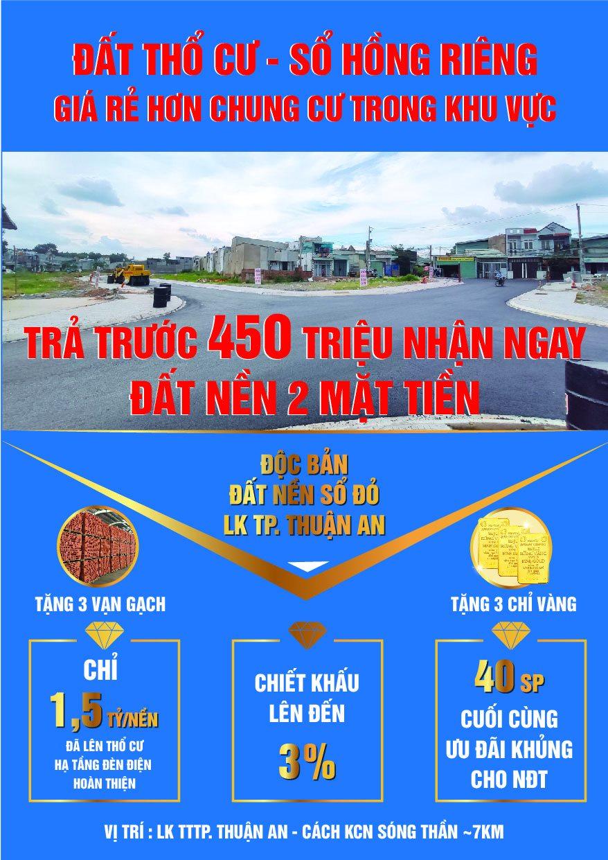 Nhà đầu tư đổ xô săn đất nền giá rẻ Thuận An 3