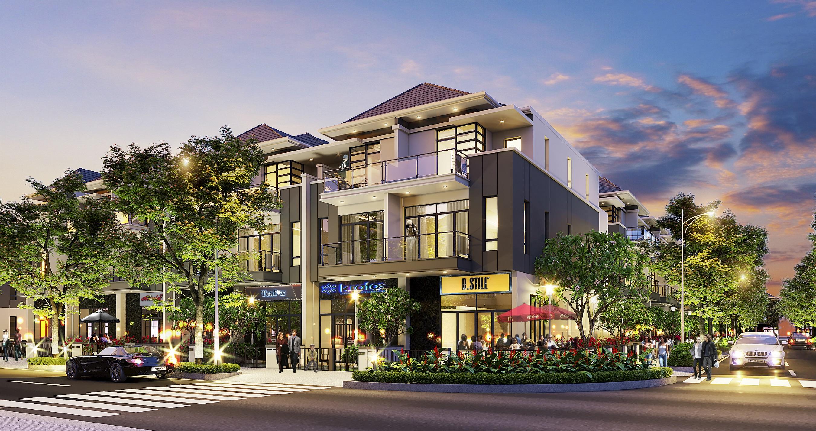 Topaz Town gồm 8 dãy nhà phố tự xây, được thiết kế theo phong cách hiện đại.