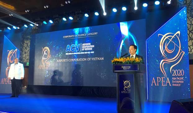 ACV lần thứ ba liên tiếp được vinh danh Doanh nghiệp Việt Nam xuất sắc Châu Á 2