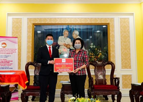 Trước đó, LDG Group đóng góp 300 triệu đồng ủng hộ quỹ phòng chống dịch Covid-19 do UBMT Tổ quốc Việt Nam phát động