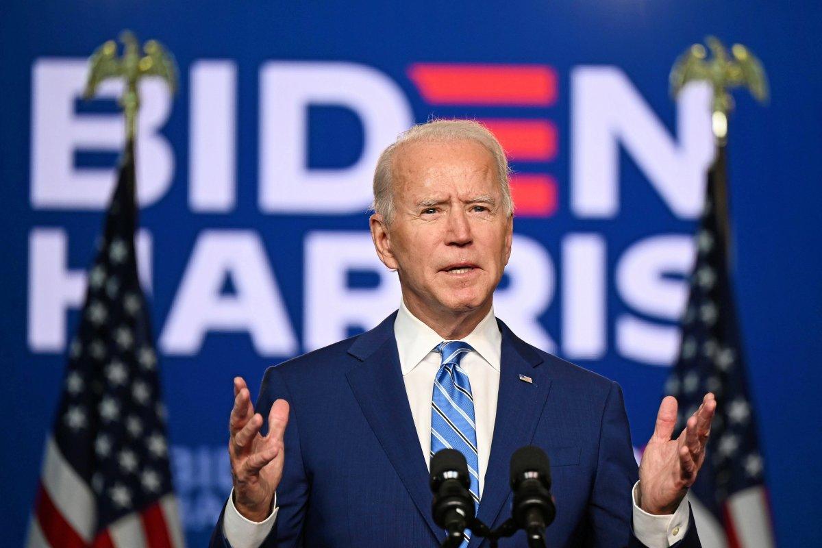 Joe Biden phát biểu tại Wilmington, Delaware, ngày 6/11. Ảnh: AP