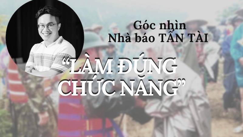 Bài viết thể hiện Góc Nhìn của Nhà báo - MC - BTV Tấn Tài