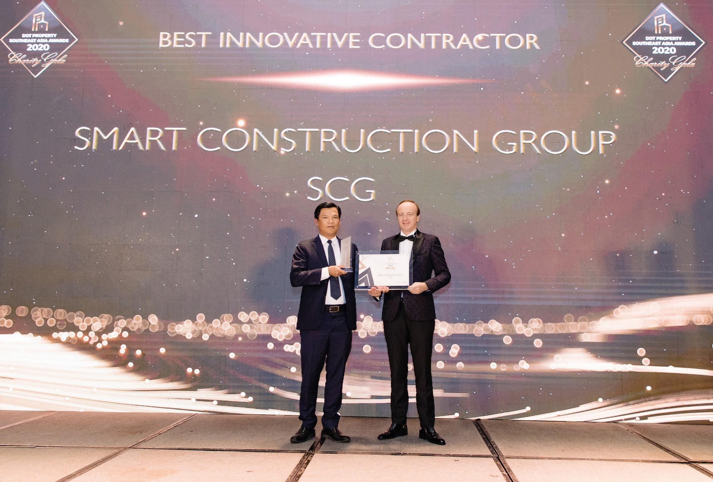 Công ty Cổ phần xây dựng SCG (Smart Construction Group) nhận giải thưởng Best Innovative Contractor Southeast Asia 2020 - Nhà thầu xây dựng đột phá nhất Đông Nam Á 2020