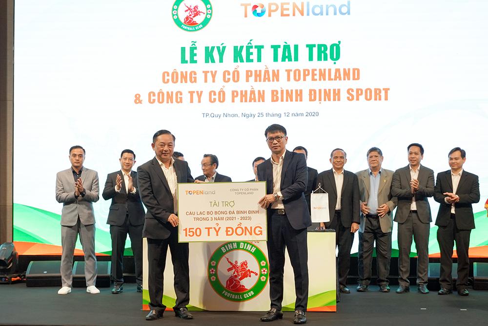 Topenland và Hưng Thịnh Land tài trợ 300 tỷ cho CLB bóng đá Topenland Bình Định trong 3 mùa giải V.League 2021 - 2023 1