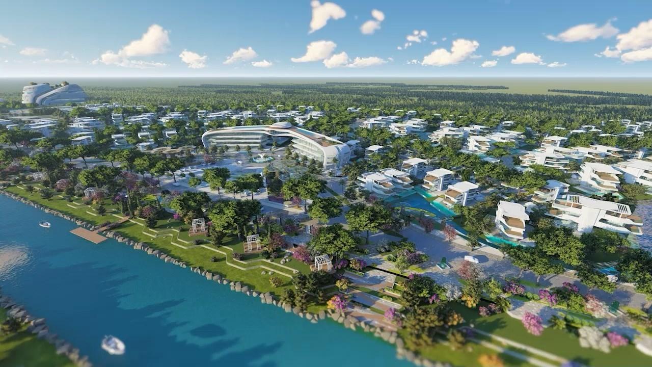 Một phân khu thuộc dự án Sunshine Heritage Resort với các công trình có thiết kế ấn tượng