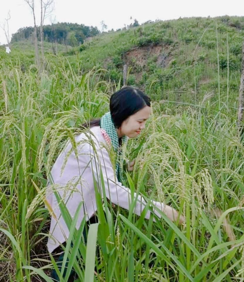 Minh Nga - bỏ nghề báo về quê làm nông dân 2
