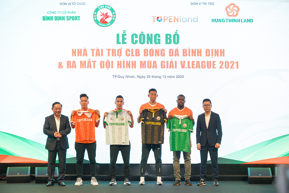 Topenland và Hưng Thịnh Land tài trợ 300 tỷ cho CLB bóng đá Topenland Bình Định trong 3 mùa giải V.League 2021 - 2023 3