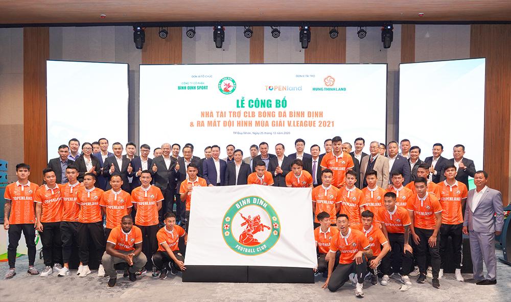 Topenland và Hưng Thịnh Land tài trợ 300 tỷ cho CLB bóng đá Topenland Bình Định trong 3 mùa giải V.League 2021 - 2023 4