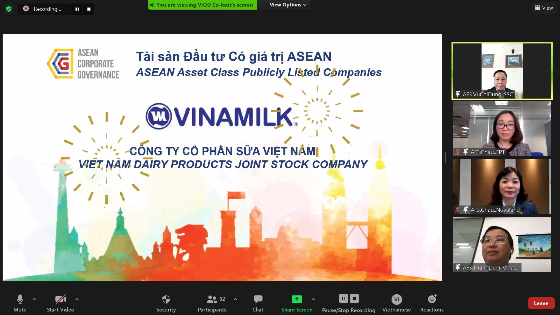 """Vinamilk - Doanh nghiệp đầu tiên và duy nhất của Việt Nam thuộc Top """"Tài sản đầu tư có giá trị của ASEAN"""" 1"""