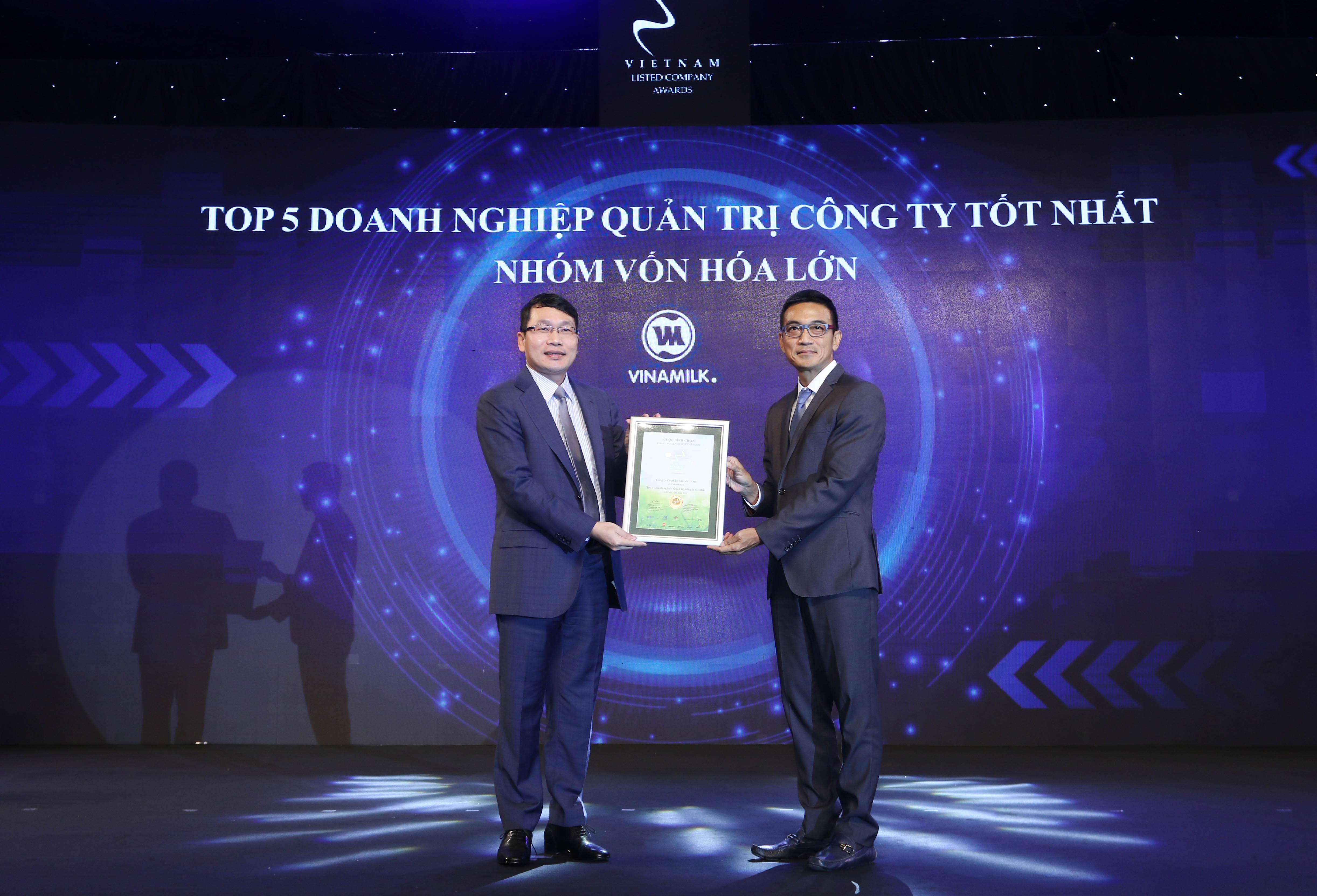 Vinamilk liên tục nhận được giải thưởng về quản trị doanh nghiệp và phát triển bền vững từ các tổ chức trong và ngoài nước