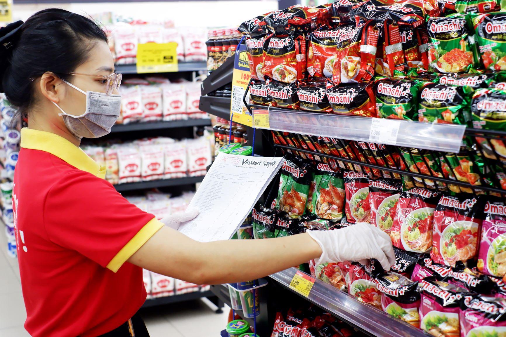 Các sản phẩm FMCG của Masan Consumer tại hệ thống siêu thị VinMart