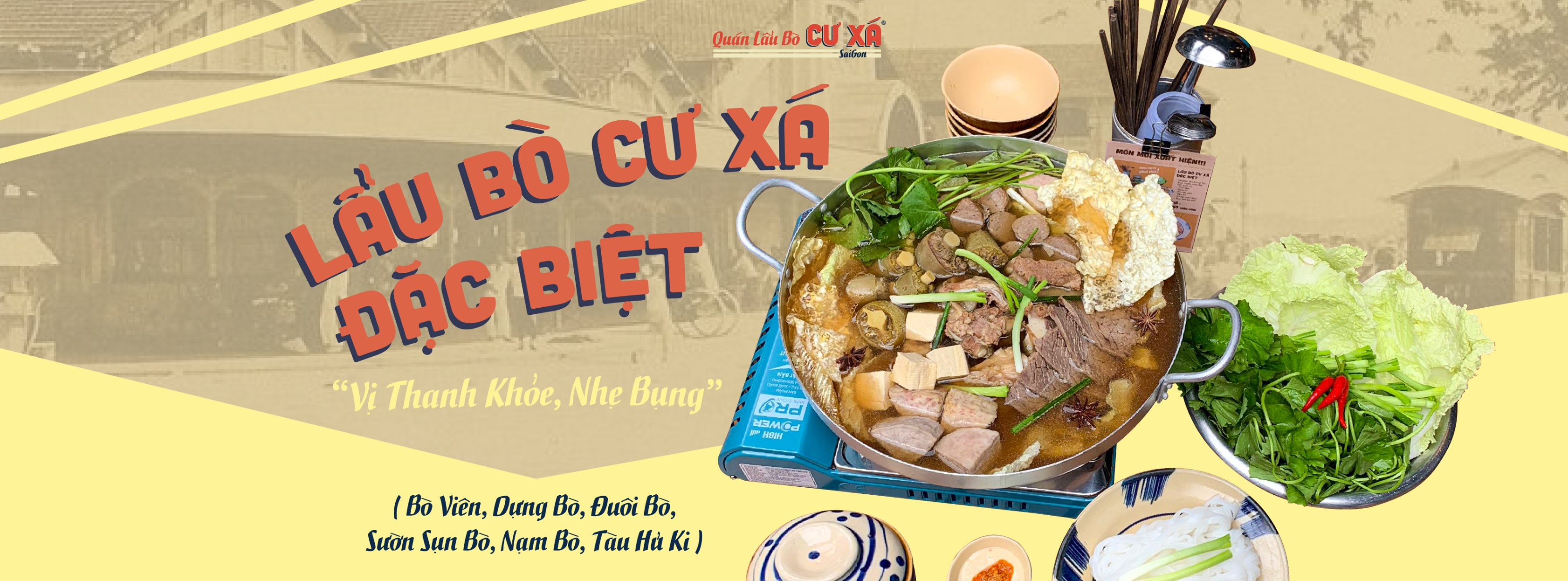 """Lẩu bò Cư Xá """"ngon từ thịt, ngọt từ xương"""" đậm chất retro ở Sài Gòn 5"""