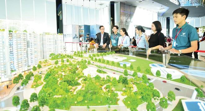 Một dự án căn hộ tại huyện Bình Chánh vừa được giới thiệu. Ảnh: Thiện Minh